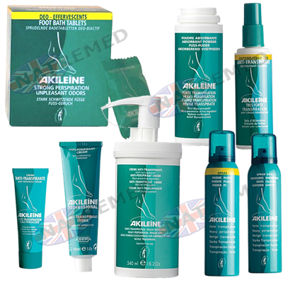 Akileine Green range for controlling foot odours