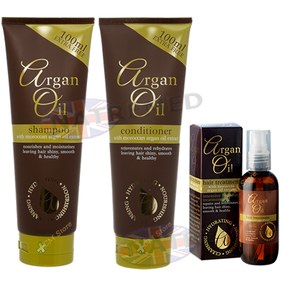 Argan Hair Care Pack With Oil