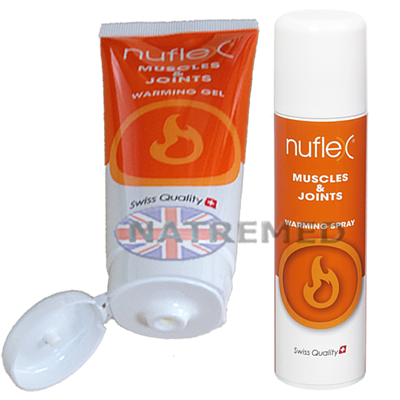 Nuflex Warming Pain reliever Gel and Spray