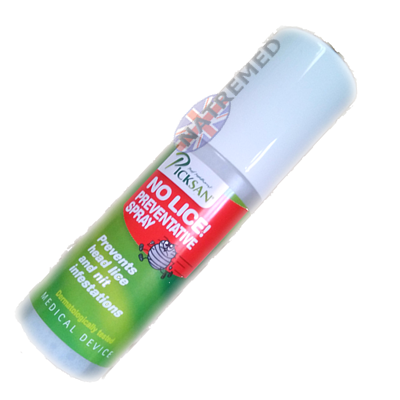 Picksan No Lice is a preventive lice spray, developed specifically to avoid infestation by head lice and nits,