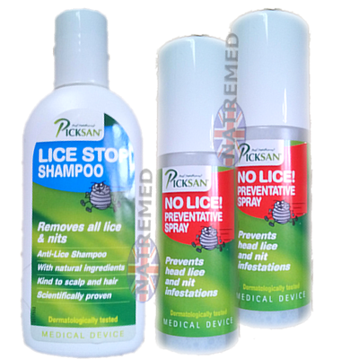 Picksan Shampoo Kills Lice with natural ingredients: