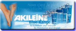 The Akileine Blue range of foot care crèmes and balms are formulated to re-hydrate dry, cracked feet and heels. These balms soothe, repair, reinforces and protects skin against harsh external factors. Made with Shea butter and many other natural plant extracts